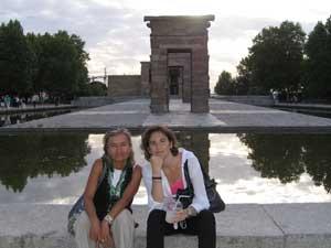 Sandra y yo en el templo de Debod